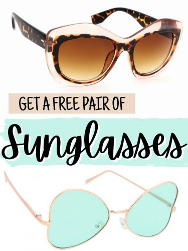 FREE Sunglasses!! Yes, You Read that Right – FREE!!