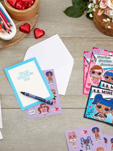 LOL Surprise Valentine's Cards with Sticker Sheets Only $4.99!