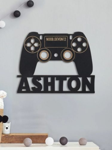 Personalized Gaming Wall Hanging Only $17.99 + FREE Shipping! SO COOL!