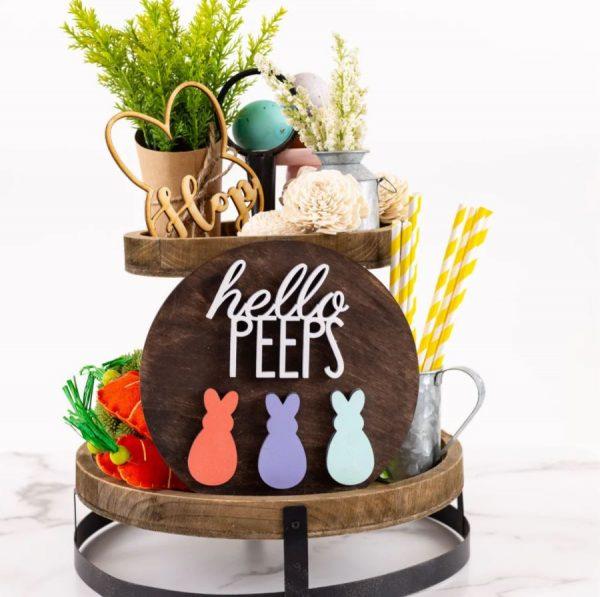 Hello Peeps Sign