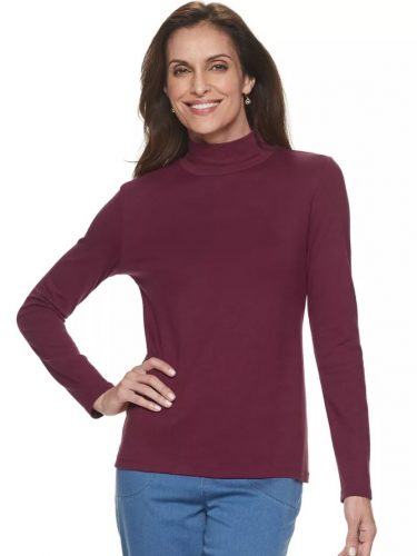 Croft & Barrow Mockneck Top Only $6.12 after Coupon Code!