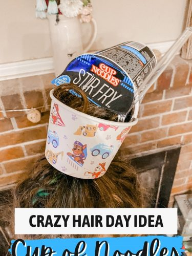 Crazy Hair Day Idea – Turn Hair into a Cup of Noodles!