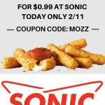 Sonic Drive-In Deals! Get Small Mozzarella Sticks for $0.99!