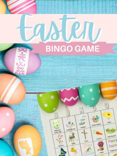 Easter Bingo Game – Fun for the Family & Play with up to 10 People!