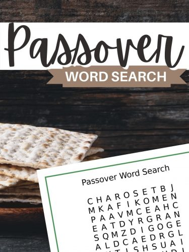 Passover Word Search – FREE Printable!