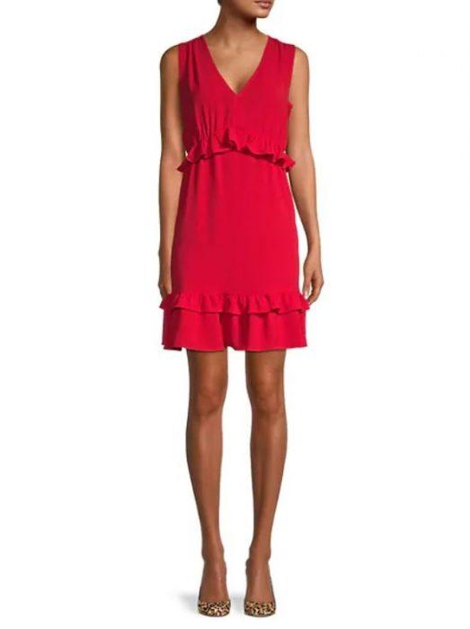 Women's Ruffled Mini Dress