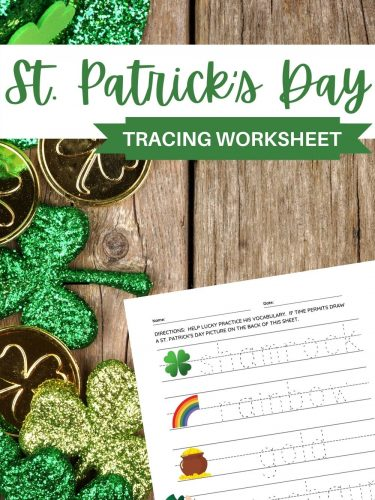 St. Patrick's Day Tracing Worksheet – Perfect for Learning to Write Letters!