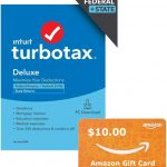 TurboTax Deluxe on Sale Today Only + a FREE $10 Amazon Gift Card!