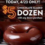 Krispy Kreme Deals - FREE Chocolate Glazed Dozen w/Dozen Purchase!