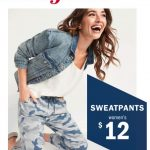 Old Navy Sweatpants on Sale for $12 ONLINE ONLY Today Only!