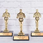 Best Dad Award - Personalized Dundie Trophies! Perfect for Father's Day!