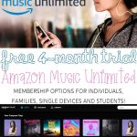 Amazon Music Unlimited Prime Day Deal! Get 4 Months for FREE!!