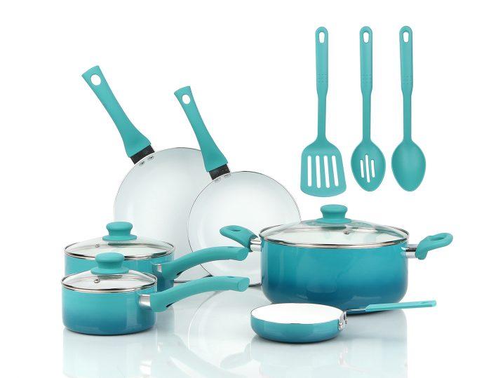 Mainstays Ceramic Nonstick 12-Piece Cookware Set