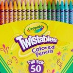 Crayola Twistables Colored Pencils 50-Count Only $9.79 Today Only!!
